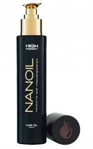 Nanoil for high porosity hair rating